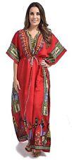 African Dashiki Hippie Boho Plus Size Orange New Women Caftan Kaftan Maxi Dress