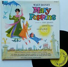 "LP Disney Jean Desailly et Simone Valere ""Mary Poppins"" - (TB/EX)"