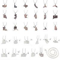 Fashion Silver Plated Necklace State Tourism Women Men Pendant Necklace Jewelry
