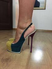 Yves Saint Laurent Tribtoo Sandals 40 Multicolor