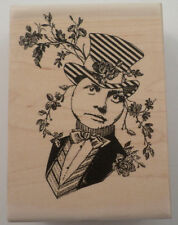 Stampington & Company Gentleman  Prince With Top Hat Wooden Rubber Stamp #S7312