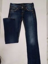 "Silver Jeans Lola 17"" Distressed  Boot Cut Jeans Juniors 25/32 (actual 28-30)"