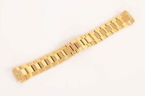 Philip Stein gold plate stainless steel diamond crystal bracelet watch band $775