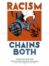 PROPAGANDA POLITICAL CIVIL RIGHTS RACISM COMMUNISM BLACK LIBERATION LV3714