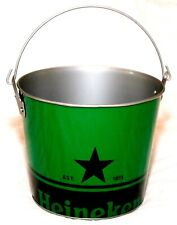 New Authentic Heineken Beer Black Star Logo 5 Quart Galvanized Metal Ice Bucket