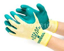 1 Pair Atlas Showa 310 Grip Green Nylon Work Gardening Gloves FREE SHIP!