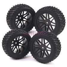 4PCS 95mm RC 1/10 HSP Off-Road Rally Short Course Truck Tyres Tires & Wheel Rim