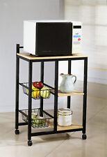 Brand New 35.5'H Modern Conveniency Kitchen Serving Cart in Black Color - Asdi