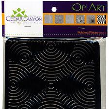 OP ART Texture Rubbing Plates NEW SET of 6 Textiles Paintstiks Clay Ink Pastels