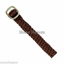 Busse Top Quality Perlon (Nylon) Spur Straps Brown, Stainless Steel Buckles