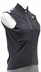 Assos UMA GT Spring Fall Airblock Vest Women MEDIUM Black Road Bike Cycling MTB