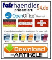 DOWNLOAD: OPEN OFFICE Premium Windows 10 8 7 BÜRO 32 64 Bit Tools Text Grafik 1A