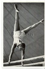 WWII GERMAN- Large 1936 OLYMPIC Sports Photo Image- Gymnastics- Bars- Handstand