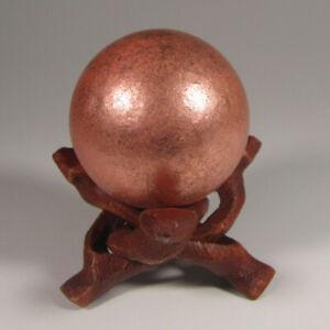 39mm NATIVE COPPER Sphere Ball w/ Stand - Keweenaw Peninsula, Michigan