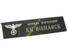 Small German Battleship BISMARCK Matal NAMEPLATE  WWII German Navy 1/350 1/700