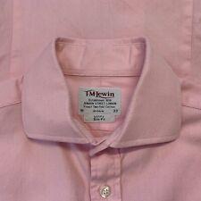 "TM Lewin Jermyn Street Luxury Slim Fit Dress Shirt Size 15 Pink 42"" Chest Cuffs"