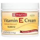 De La Cruz 10,000 IU Vitamin E Cream 4 OZ. - Allergy Tested (Made in USA)