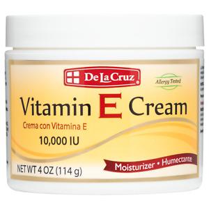 De La Cruz® 10,000 IU Vitamin E Cream 4 OZ.  - Allergy Tested (Made in USA)