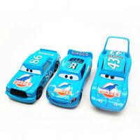 3pcs Disney Pixar Cars Dinoco Mcqueen Chick Hicks King Diecast Model Toy Car