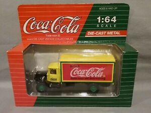 BOXED Coca-Cola DIE-CAST CAR 1:64 MACK Truck Model BM - Yellow