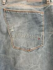Mens Tommy Hilfiger Straight Jeans Distressed Light Blue 38/34 As New