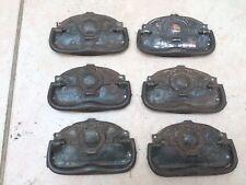 Set of 6 Antique Art Nouveau Thin Steel Handles