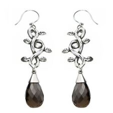 The Grapevine Earrings with Smoke Quartz Stainless Steel Jewelry By Controse