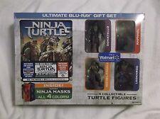 Teenage Mutant Ninja Turtles Blu-Ray/DVD Gift Set. Plus 4 Figures & Ninja Masks