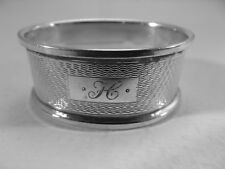 Good HM Silver Oval Napkin Ring (466a) - Birm 1965 Broadway & Co - sterling