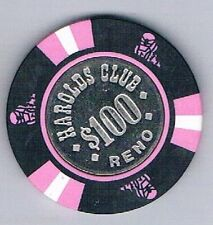 Harolds Club $100.00 Coin Center Casino Chip Covered Wagon Mold Reno Nevada