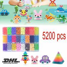 5200pcs Aqua Beads Glitzer Basteln Kinder Bastelset Glitzerperlen Perlen NEU DTD