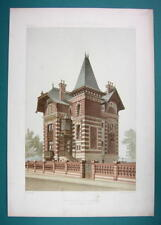 ARCHITECTURE Beautiful Color Prints - VICTORIAN Villa at Bouzeval Arch. Lingery