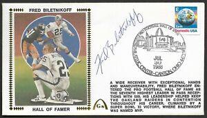 Fred Biletnikoff Autographed Hall Of Fame Gateway Stamp Cachet Envelope HOF