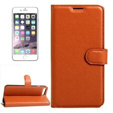 Funda protectora marrón para Apple iPhone 8 Y 7 4.7 pulgadas potada del libro