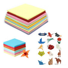 50/100 Sheets Square Origami Wish Paper Double Sided Sheets Crane Craft DIY Arts