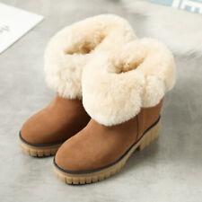 Casual Korean Fashion Snow Bootie Suede Warm Cashmere Blend Thicken Outdoor Boot