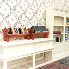 Wooden Newspaper Magazine Rack with book Dollhouse Miniature 1:12 Mini ZL ZL