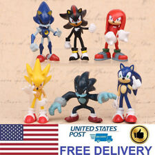Sonic The Hedgehog Shadow Knuckles Character Action Figure Kids Gift Toy 6 PCS