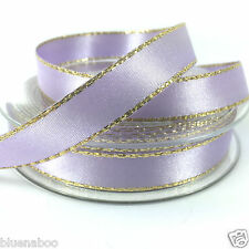 Gold Edge satin ribbon 15mm wide Berisfords sold per 2 metres