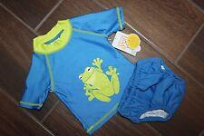 Carter's Infant/Toddler Boys Rash Guard Shirt W/Swim Suit Diaper Blue 9 Months