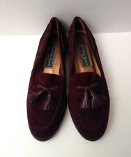 Cole Haan Emmons Tassel Loafer Made in Italy Fig Brown Suede Women Size 8 1/2 B