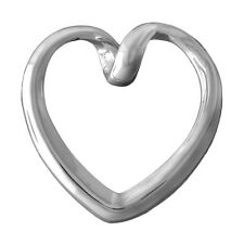 Brand New Sterling 925 Silver Stylish Modern Infinity Heart Twist Pendant
