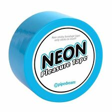 PVC NEON PLEASURE TAPE BLUE SOFT ON SKIN BODY FUN WITH PARTNER KINKY TIME ADULT