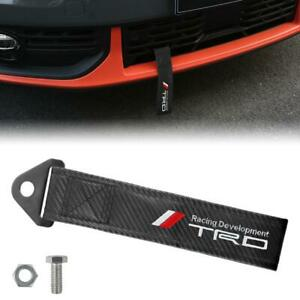 TRD Carbon Fiber High Strength Tow Towing Strap Hook For Front / REAR BUMPER