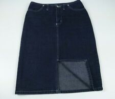 Just Jeans Front Split Knee Length Stretch Denim Skirt Women's Size 8 - Like New