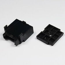 In Line Standard Single Blade Fuse Holder Black and Mounting Plate Bottom Entry