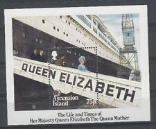 Ascension Island 1985 Foglietto Bf 15 85 anniversario regina madre Mnh