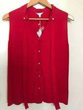 Veronika Maine Size 8 Sleeveless Shirt