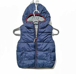 Next Kids Boys Bodywarmer vest gilet Hooded jacket Navy 3 Years (Height 98cm)