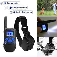 300 Yard Pet Dog Training Shock Collar Rechargeable Waterproof LCD 100LV Remote